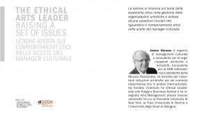 Lezione aperta sui comportamento etici nelle scelte del manager culturale