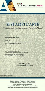 locandina Si Stampi l'Arte.